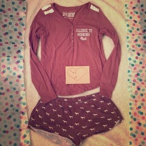 PINK Victoria's Secret pajamas XS top S shorts